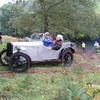 Michael and Chris driving the Austin Seven at Brickhill on its first Trial (Picture by Clair Oakes)
